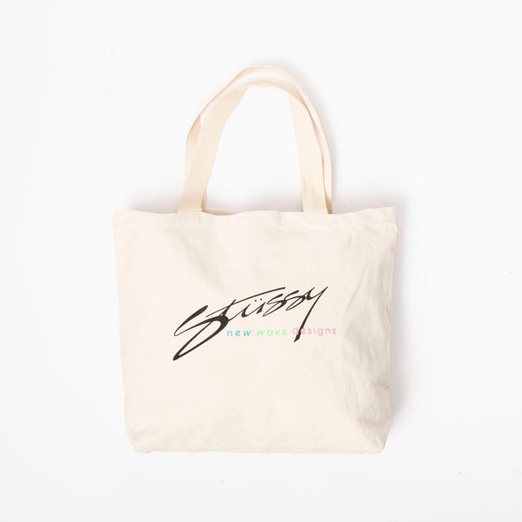 Stüssy New Wave Designs Canvas Tote Bag - Rule of Next Accessories