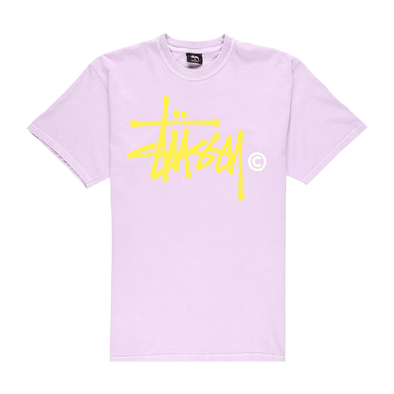 Stüssy Basic Logo Pigment Dyed T-Shirt - Rule of Next Apparel