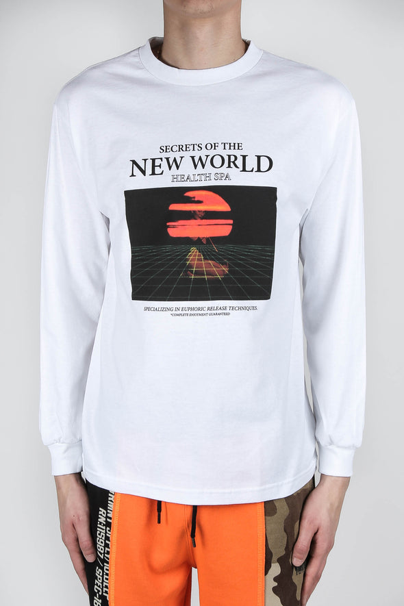 10 Deep Secrets of the New World Long Sleeve Tee Shirt - Rule of Next Apparel