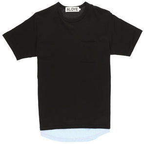 Aloye Fabric Layered T-Shirt - Rule of Next Apparel