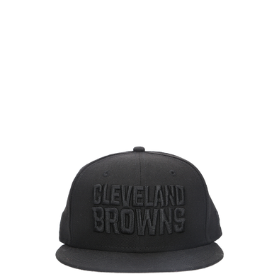 New Era Browns Black On Black Fitted Hat - Rule of Next Accessories