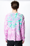 Siberia Hills Ghost Cross Tie Dye Crewneck - Rule of Next Apparel