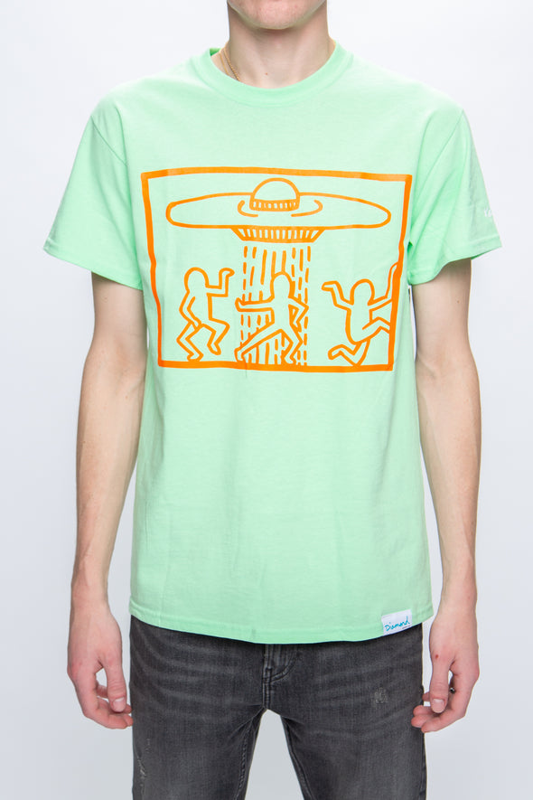 Diamond Supply Co. Keith Haring x Space Ships T-Shirt - Rule of Next Apparel
