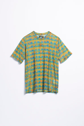Stüssy Women's Printed Plaid Mesh T-Shirt - Rule of Next Apparel