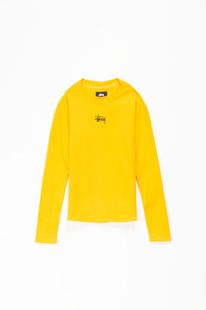 Stüssy Women's Baby Rib Long Sleeve T-Shirt - Rule of Next Apparel
