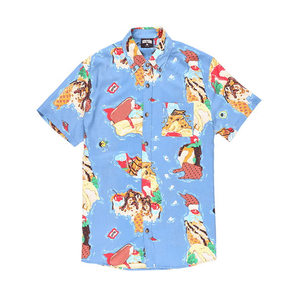 IceCream Island Woven Shirt - Rule of Next Apparel