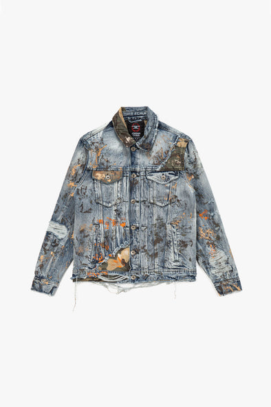 Jordan Craig Camo Denim Jacket - Rule of Next Apparel