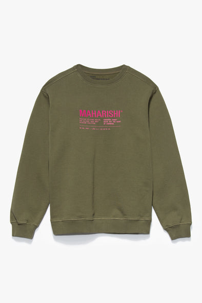 Maharishi Miltype21 Crewneck - Rule of Next Apparel