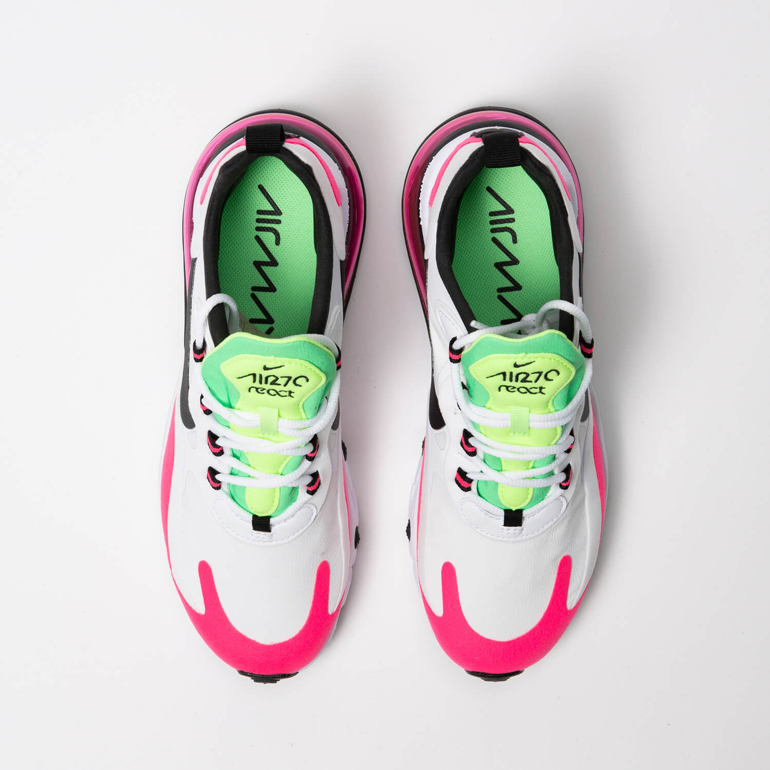Nike Women S Air Max 270 React White Black Hyper Pink