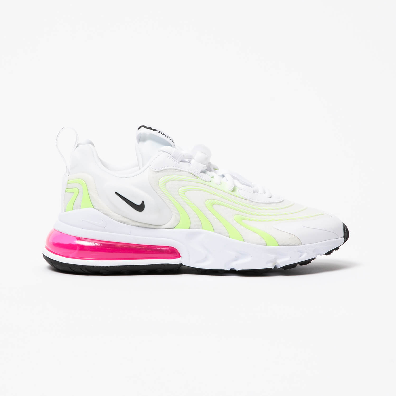 Nike Women S Air Max 270 React Eng White Black Ghost Green