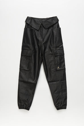 Women's Faux Leather Utility Pants