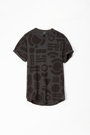 G-Star RAW Badges Lash AOP OD R Tee Short Sleeve - Rule of Next Apparel