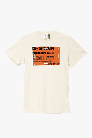 G-Star RAW Flock Badge Graphic T-Shirt - Rule of Next Apparel