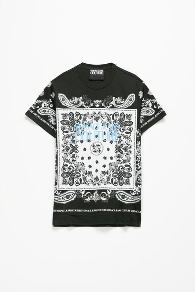 Versace Jeans Couture Bandana Print T-Shirt - Rule of Next Apparel
