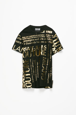 Versace Jeans Couture All Over Print Logo T-Shirt - Rule of Next Apparel