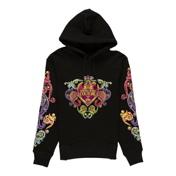 Versace Jeans Couture Floral Crest Hoodie - Rule of Next Apparel