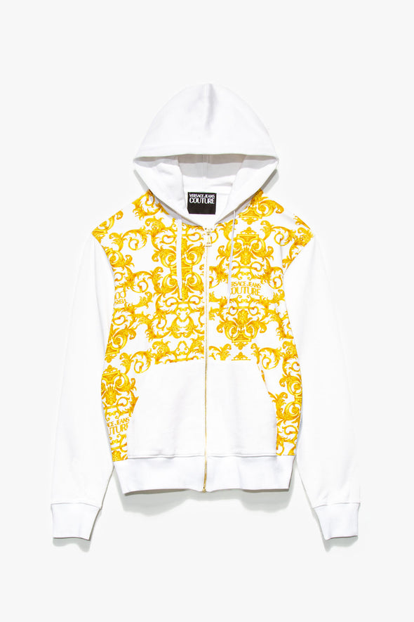 Versace Jeans Couture Baroque Print Hoodie - Rule of Next Apparel
