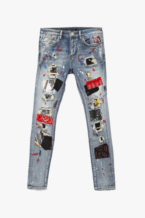 Embellish Rebel Rip & Repair Denim - Rule of Next Apparel