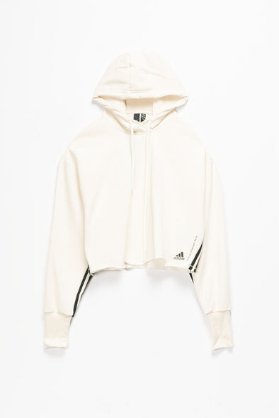 adidas Women's Recycled Cotton Cropped Hoodie - Rule of Next Apparel