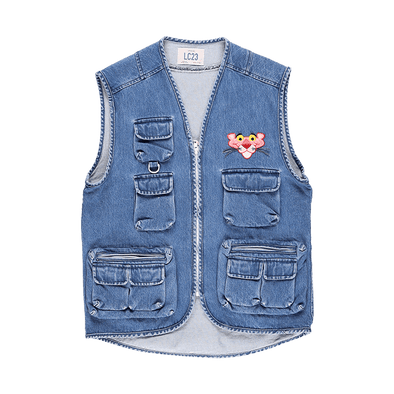 LC23 Multitasca Denim Gilet - Rule of Next Apparel