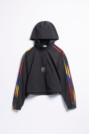 adidas Women's Rainbow Stripe Cropped Hoodie - Rule of Next Apparel
