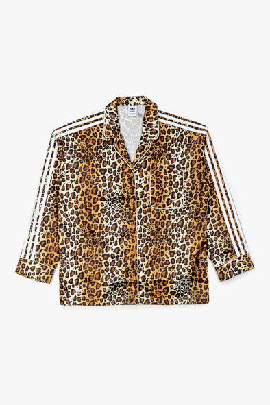 adidas Women's Leopard Satin Button Up - Rule of Next Apparel