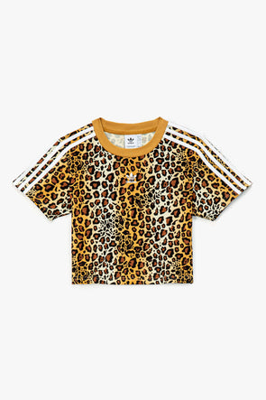 adidas Women's Leopard Cropped T-Shirt - Rule of Next Apparel