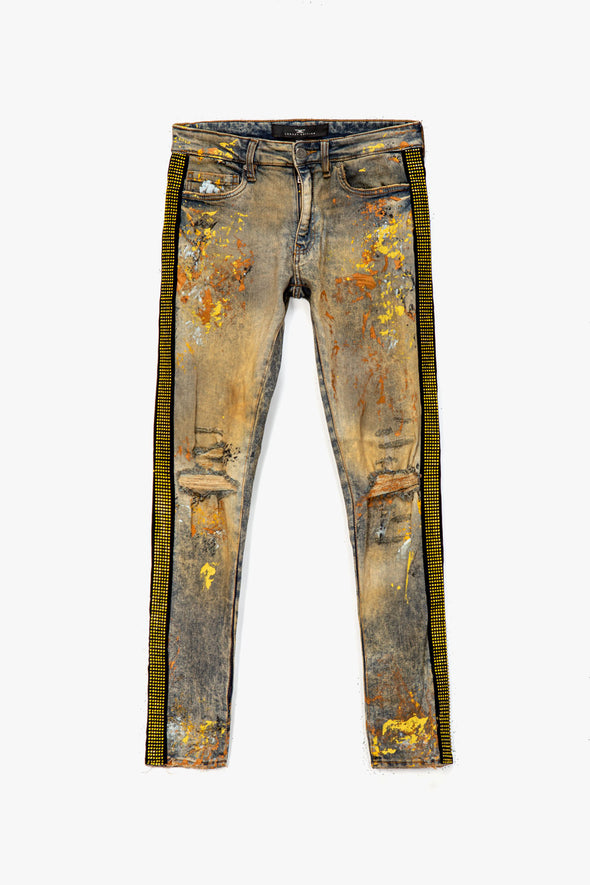 Jordan Craig Rhinestone Stripe Jean - Rule of Next Apparel