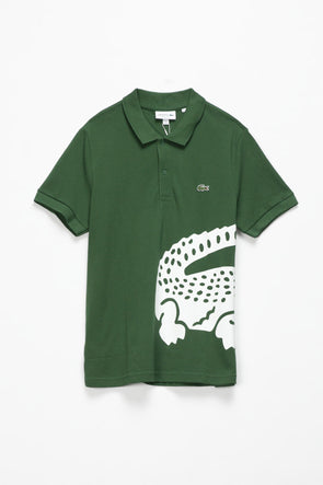 Lacoste Oversized Crocodile Print Polo - Rule of Next Apparel