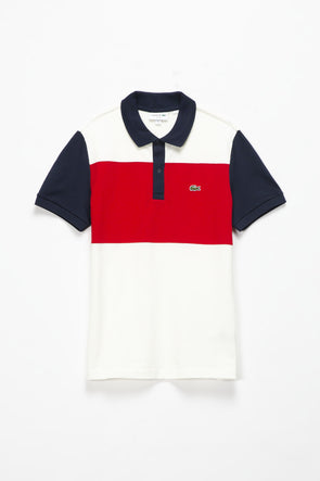 Lacoste Striped Colorblocked Polo - Rule of Next Apparel