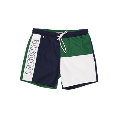Lacoste Color Block Printed Swim Shorts - Rule of Next Apparel