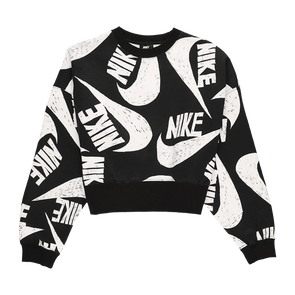 Nike Women's Swoosh Printed Crewneck - Rule of Next Apparel