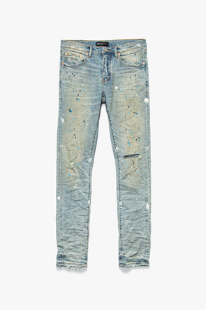 Purple Brand Light Indigo Painter Jeans - Rule of Next Apparel