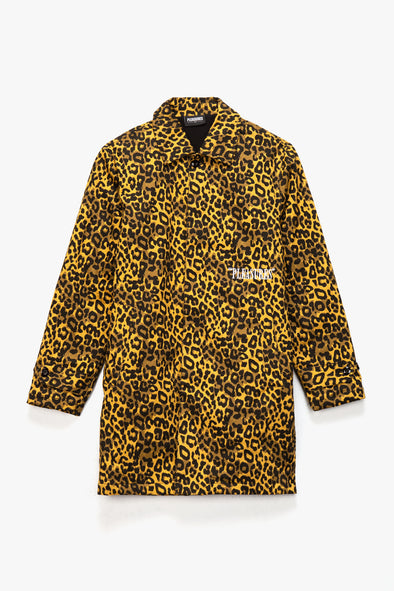 Pleasures Grave Cheetah Trench Coat - Rule of Next Apparel