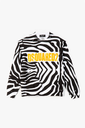 DSQUARED2 Zebra Cool Crewneck - Rule of Next Apparel