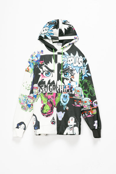 Sugarhill Split Psycho Hoodie - Rule of Next Apparel