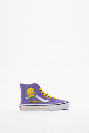 Vans The Simpsons x Kids Sk8-Hi Zip (PS) - Rule of Next Footwear