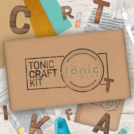 Tonic Craft Kit 10 - Alphabet Frames - Inspiration