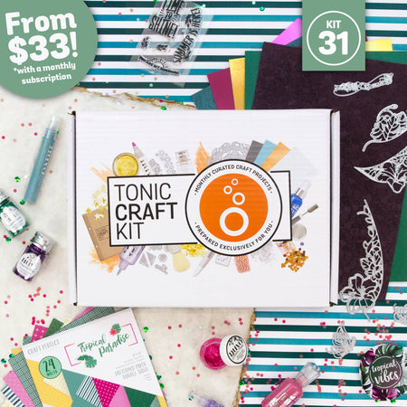 Tonic Craft Kit 31 - Tropical Paradise - Inspiration