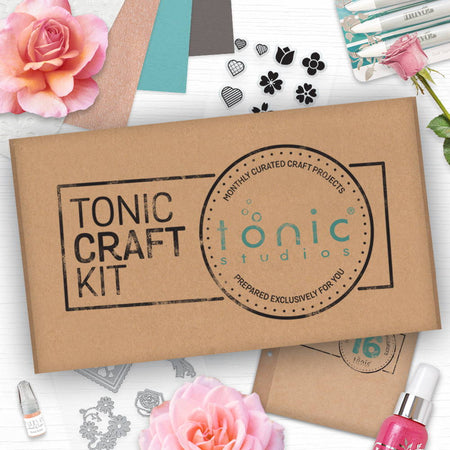 Tonic Craft Kit 16 - Floral Layered Hearts