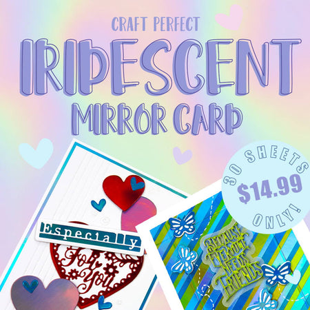 Iridescent Mirror Card