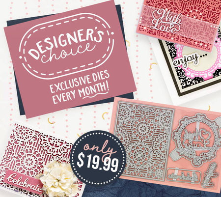 Designer's Choice - The Floral Panel & Sentiment Die Set