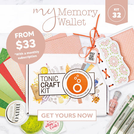 Tonic Craft Kit 32 – My Memory Book Wallet