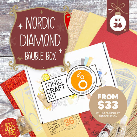 Tonic Craft Kit 36 - Nordic Diamond Bauble Box - Inspiration