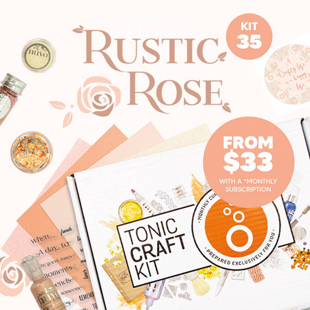 Tonic Craft Kit 35 - Rustic Rose Die Set