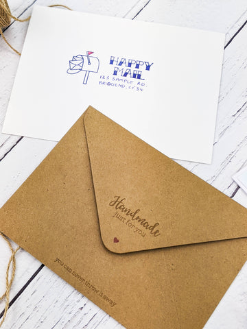 Tonic Studios - Stamp Club - Happy Mail Envelope Stamp Set - 3715E