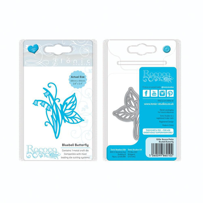 Tonic - Die - Rococo Petite - Bluebell Butterfly - 1010e