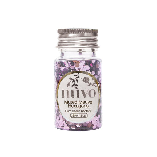 Nuvo - Confetti - Muted Mauve Hexagons - 35ml Bottle - 1061n - tonicstudios