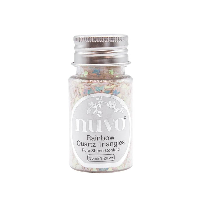 Nuvo - Confetti - Rainbow Quartz Triangles - 35ml Bottle - 1067n - tonicstudios