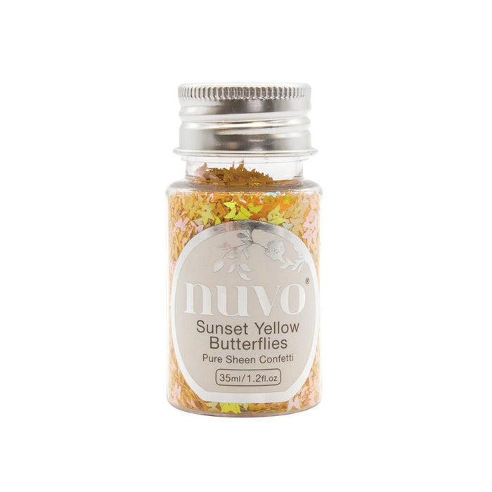 Nuvo - Confetti - Sunset Yellow Butterflies - 1069N - tonicstudios